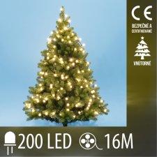 Vianočná LED svetelná reťaz vnútorná - guľky 1,5 cm - 200LED - 16M Teplá biela