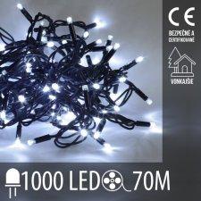 Vianočná LED svetelná reťaz vonkajšia - 1000LED - 70M Studená Biela