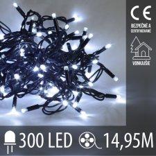 LED Vianočné osvetlenie vonkajšie - 300LED - 14,95M Studená Biela