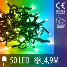 Vianočná LED svetelná reťaz vonkajšia - 50LED - 4,9M Multicolour