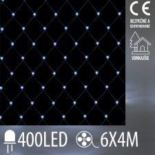 Vianočná LED svetelná sieť vonkajšia - 400LED - 6x4M Studená biela