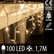 Vianočná LED svetelná záclona na spájanie vnútorná 100LED - 1,7M Teplá biela