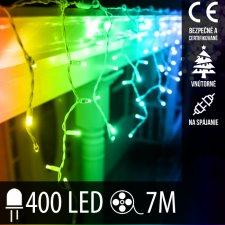 Vianočná LED svetelná záclona na spájanie vnútorná 400LED - 7M Multicolour