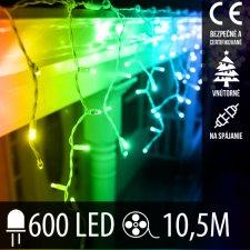 Vianočná LED svetelná záclona na spájanie vnútorná 600LED - 10,5M Multicolour