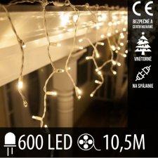 Vianočná LED svetelná záclona na spájanie vnútorná 600LED - 10,5M Teplá biela