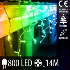 Vianočná LED svetelná záclona na spájanie vnútorná 800LED - 14M Multicolour