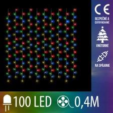 Vianočná LED svetelná záclona na spájanie vnútorná - záves - 100LED - 0,4M Multicolour