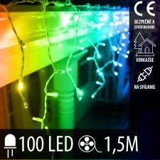 Vianočná LED svetelná záclona na spájanie vonkajšia 100LED - 1,5M Multicolour