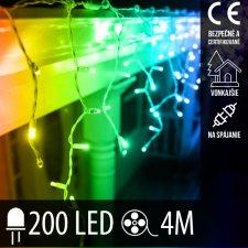 Vianočná LED svetelná záclona na spájanie vonkajšie 200LED - 4M Multicolour