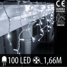 Vianočná LED svetelná záclona vonkajšia - 100LED - 1,66M Studená biela