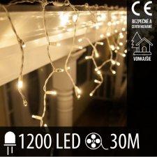 Vianočná LED svetelná záclona vonkajšia - 1200LED - 30M Teplá biela