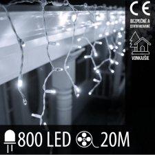 Vianočná LED svetelná záclona vonkajšia - 800LED - 20M Studená Biela