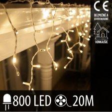 Vianočná LED svetelná záclona vonkajšia - 800LED - 20M Teplá biela