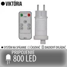 VIKTÓRIA napájací zdroj pre spojovateľné reťaze s časovačom a diaľkovým ovládačom - na 800 LED
