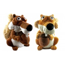 Veverička Scrat z doby ľadovej opakuje slová, skáče - rôzne farby