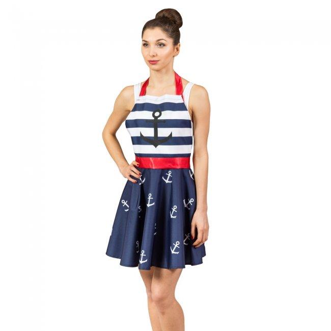 a529a899843f Zástera pre ženu - námornícke šaty
