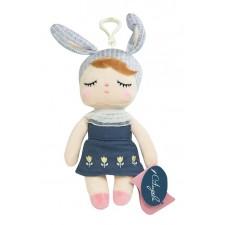 Závesná bábika v modrej sukničke - 18 cm