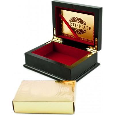 Zlaté hracie karty v luxusnej krabičke