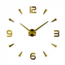 Zlaté nástenné hodiny veľké 80-120cm - 4 číslice