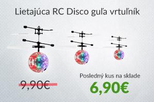 Lietajúca RC Disco guľa