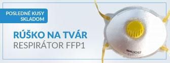 Rúško na tvár respirátor FFP1