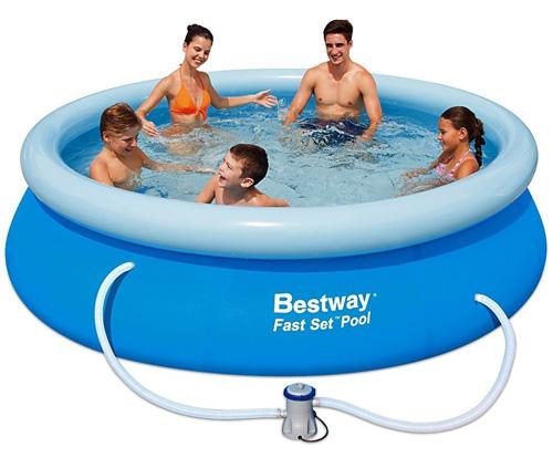 Bazén nafukovací Bestway s golierom okrúhly 305 x 76 cm