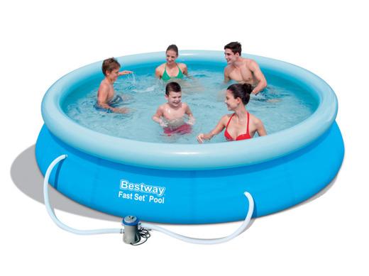 Bazén nafukovací Bestway s golierom okrúhly 366 x 76 cm